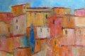 Orange Häuser